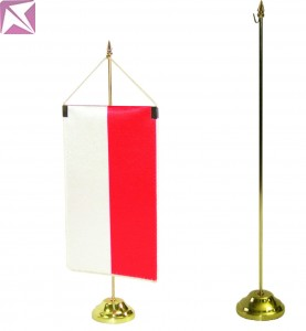 Classic single pennant stand, gold